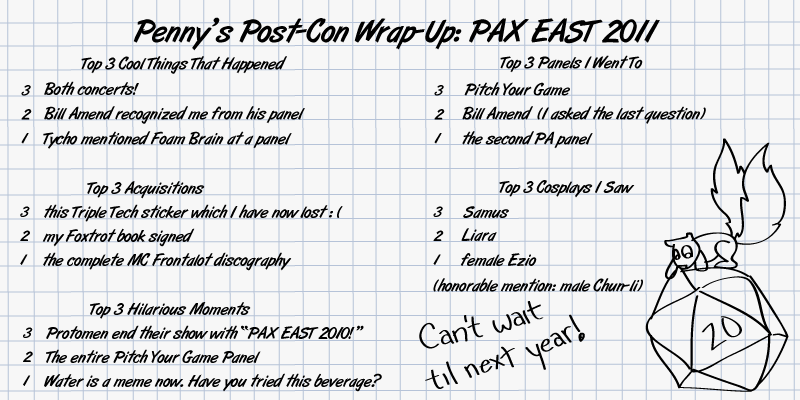 Report: PAX EAST 2011